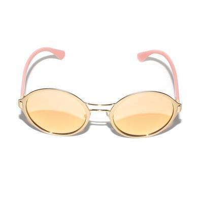 Prada Gold Round Sunglasses