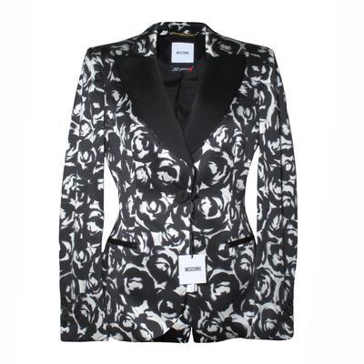 Moschino Size 42 Black and White Blazer