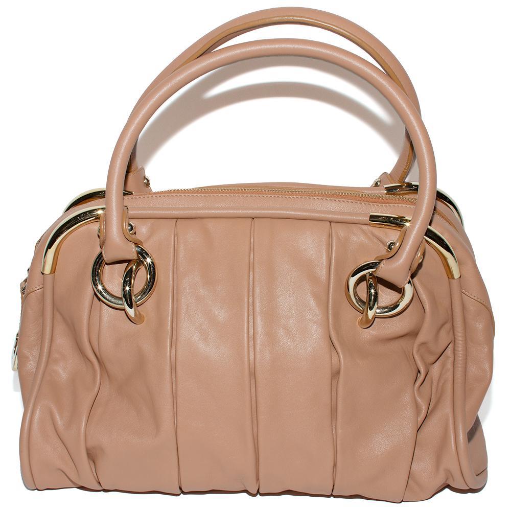 Bally Brown Soft Leather Zip Handbag