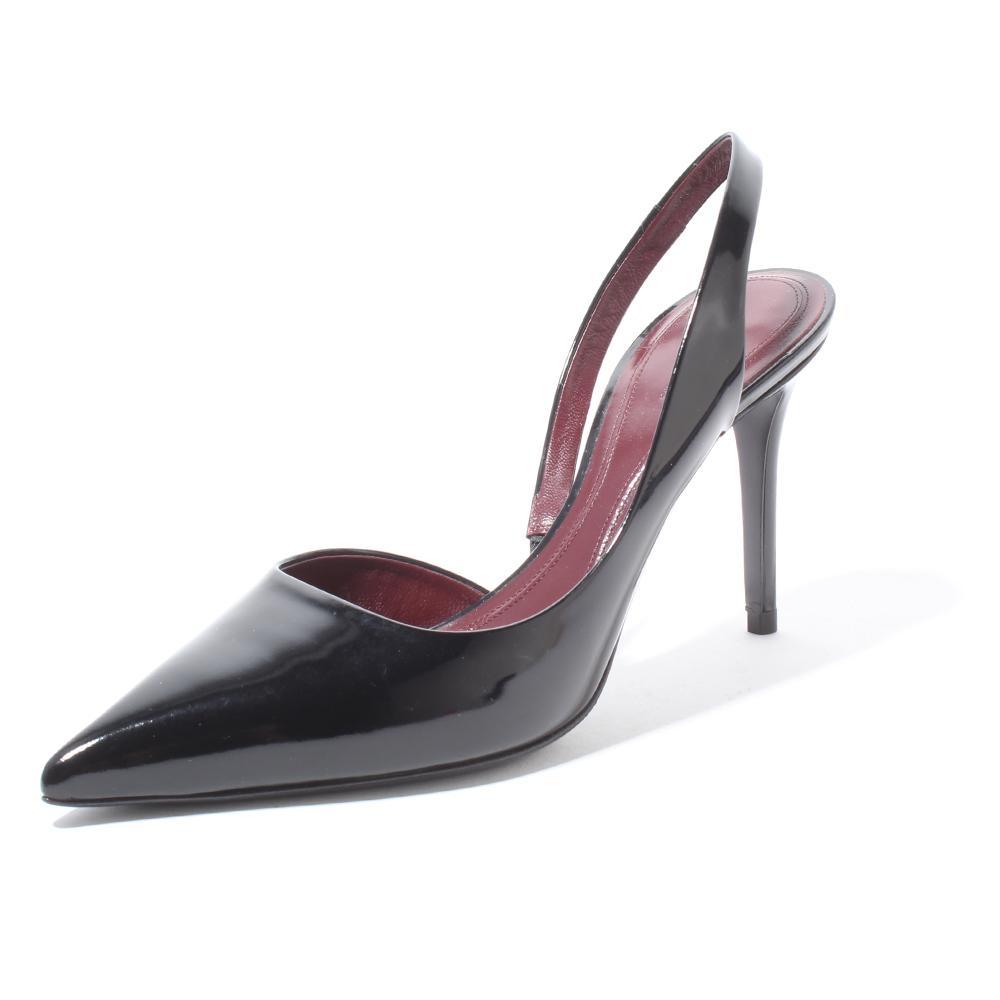 Celine Size 37 Pointed Patent Slingback Heel
