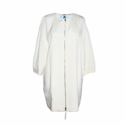 Blumarine Size 40 Off White Zip Up Jacket