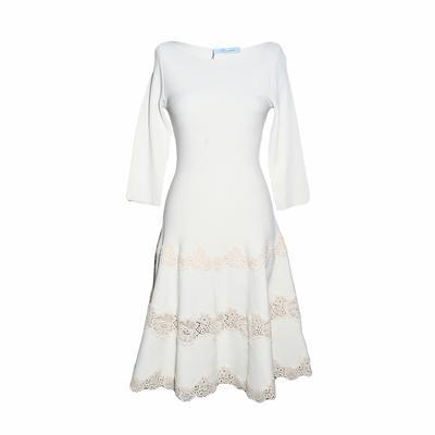 Blumarine Size 42 Off White Knit Dress