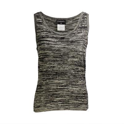 Chanel Size 40 Knit Tank Top
