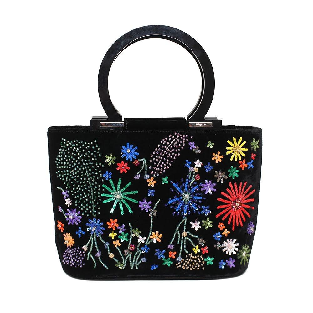 Salvatore Ferragamo Vintage Beaded Bag