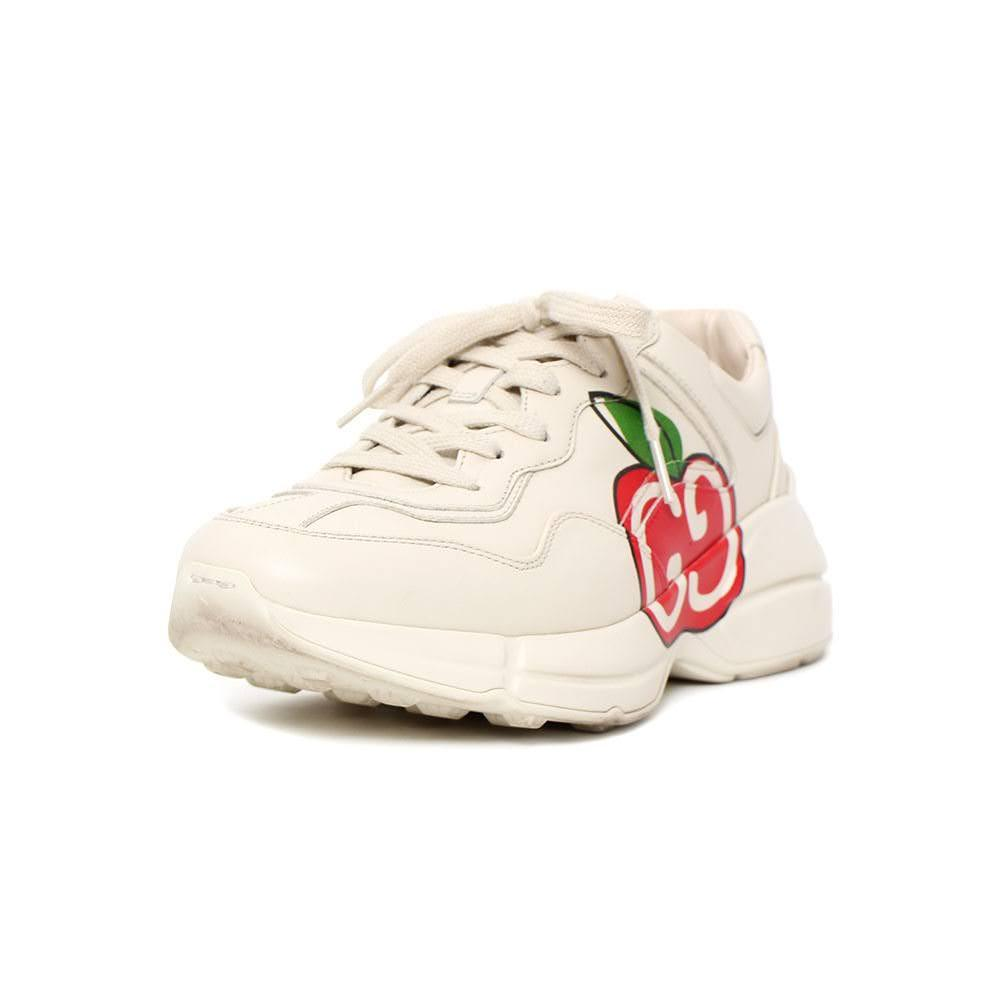 Gucci Size 39.5 Rhyton Apple Sneaker