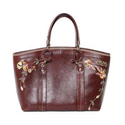 Christina Dior floral leather