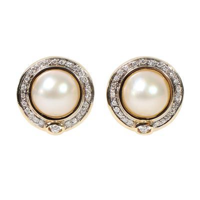 Hallmark CA 14KYG Pearl Earrings
