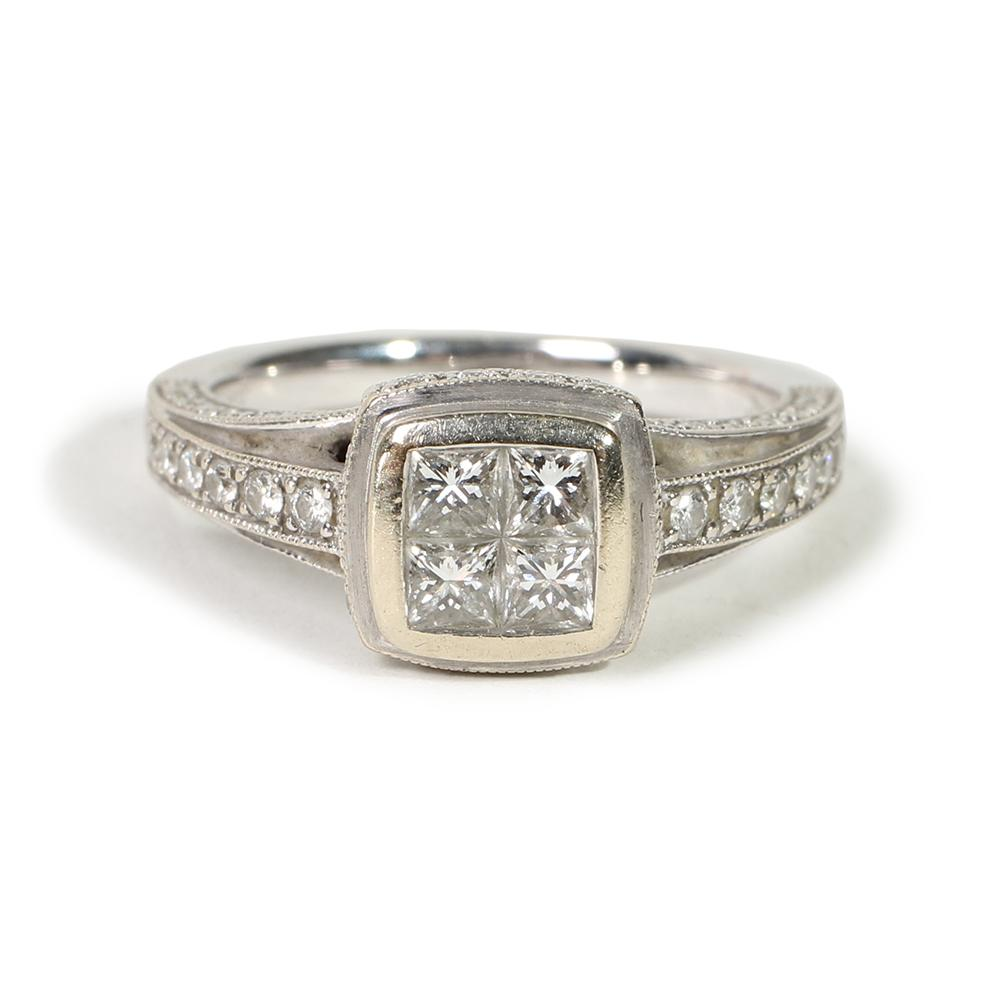 J.L.Johnson Size 7 Diamond Engagement Ring