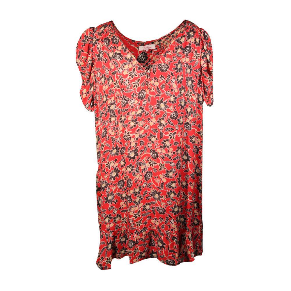Parker Size Xl Red Floral Dress