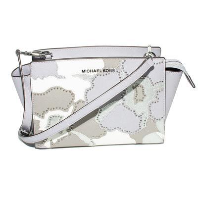 Michael M Kors Lavender Mid Messenger Bag