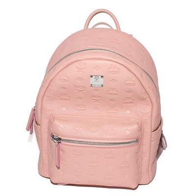 MCM Pink Leather Otoomar Backpack