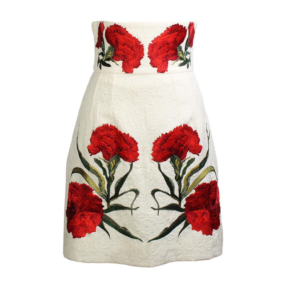Dolce & Gabbana Size 38 Floral Skirt