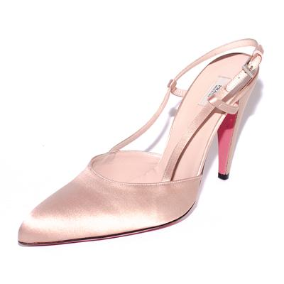 Prada Size 38.5 Pink Slingback High Heels