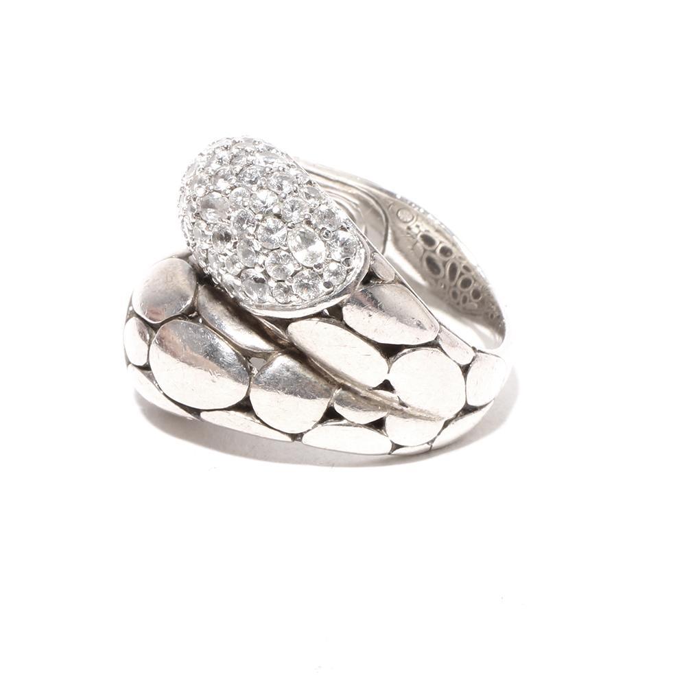 John Hardy Kali Sterling Silver Sapphire Arus Ring