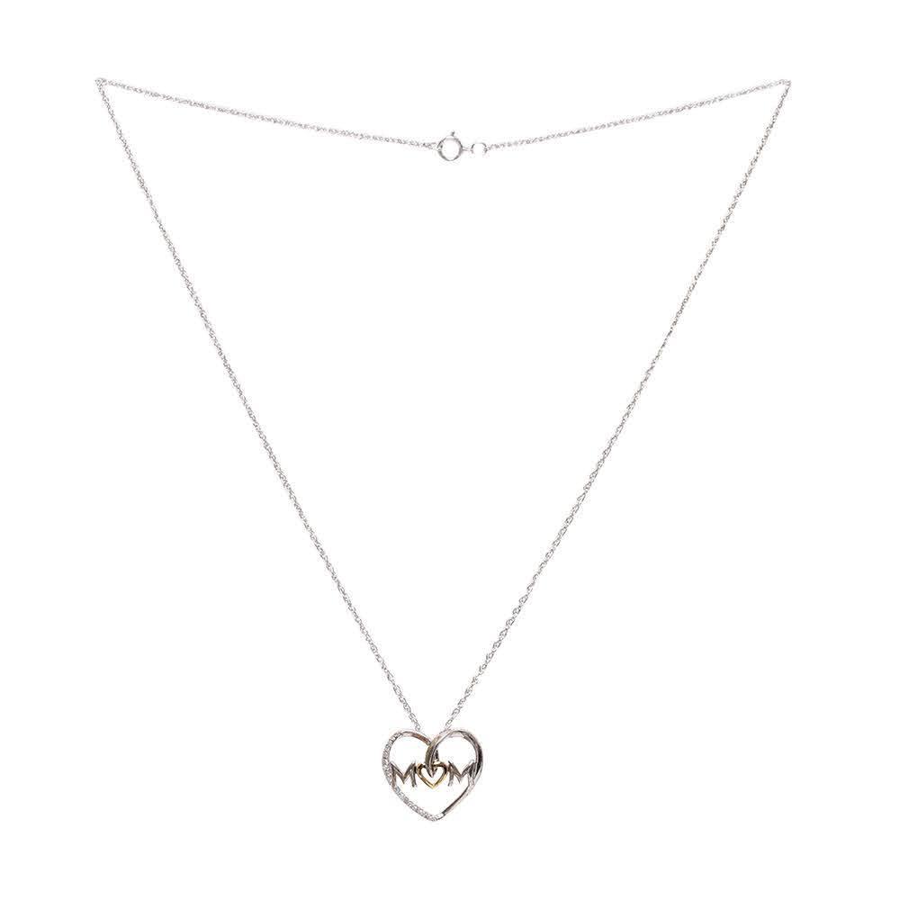 Macy ' S 14k Sterling Diamond Mom Heart