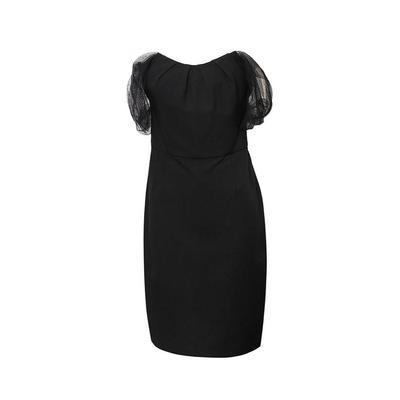 Lela Rose Size 10/Medium Black Mesh Sleeve Dress