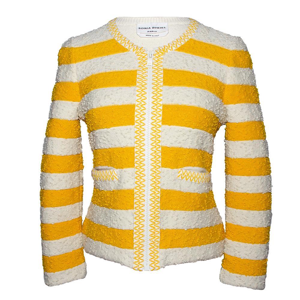 Sonia Rykiel Size 40 Yellow Jacket