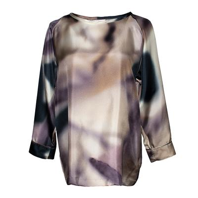 Max Mara Size 8 Grey Silk Blouse