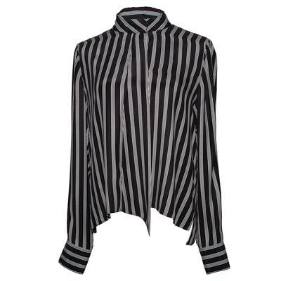 Frame Size Large Black Vertical Stripe Long Sleeve Shirt