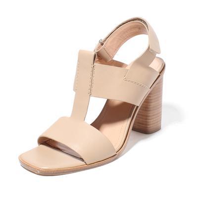 Sigerson Morrison Size 9.5 Velcro Strap Block Heel