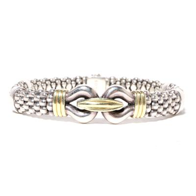 Lagos Sterling Silver, 14k Gold Bracelet