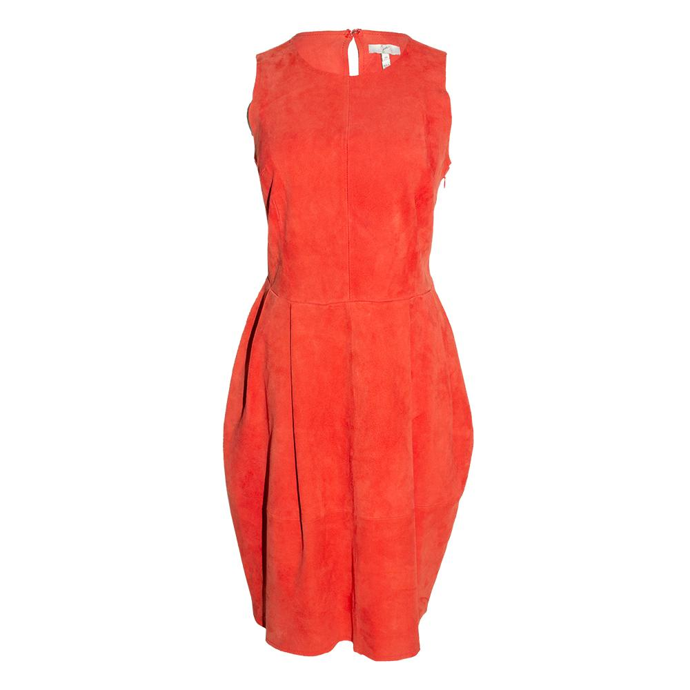 Joie Size Medium Red Suede Dress