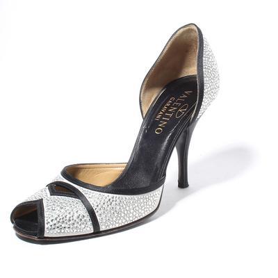 Valentino Size 39.5 Rhinestone High Heel