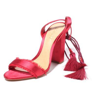 Schultz Size 7 Satin Lace up heel