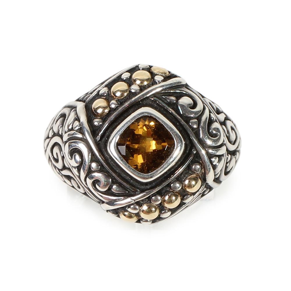 Samuel Benham Size 7 Citrine Ring