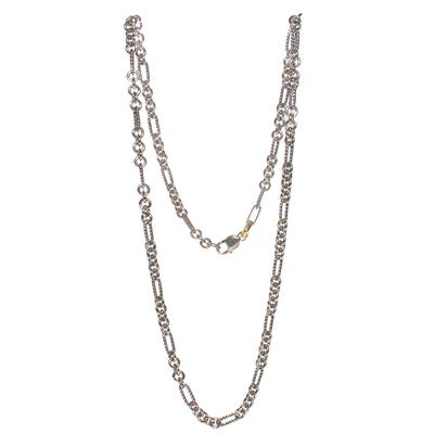 David Yurman Size 32 Silver Figaro Necklace