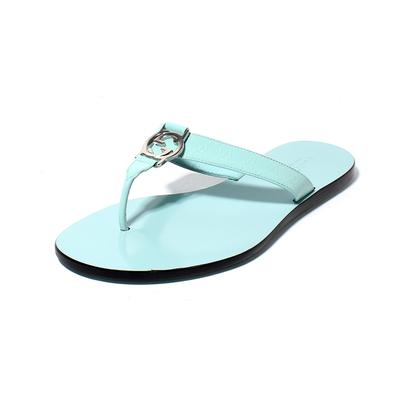 Gucci Size 37.5 Patent Leather Monogram Sandals