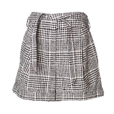 Veronica Beard Size 10 Black & White Michel Shorts