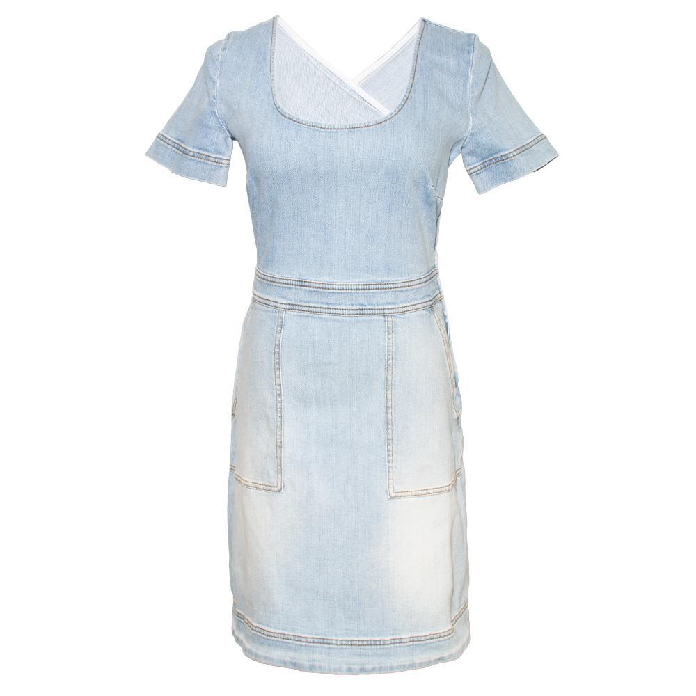 Stella Mccartney Size 44 Light Blue Denim Dress