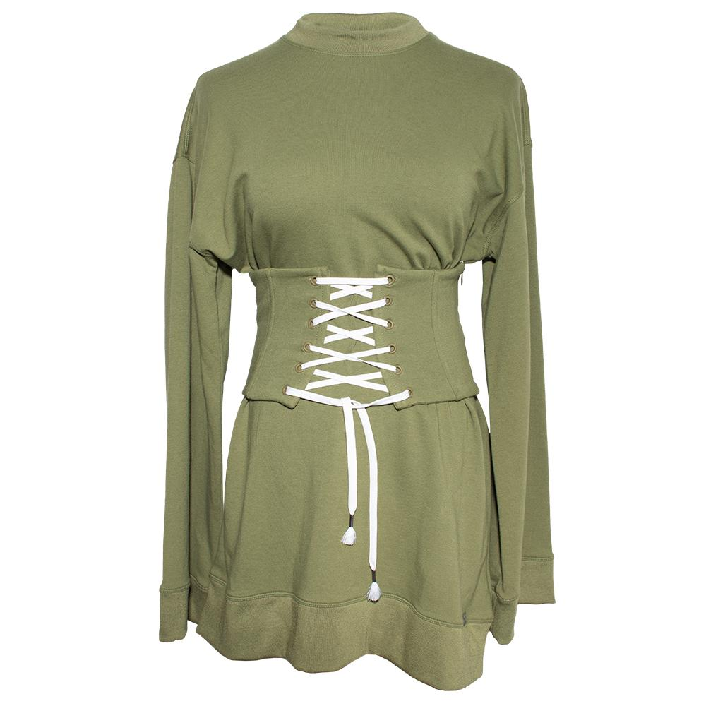 Fenty X Puma Size Extra Small Green Sweater Short Dress