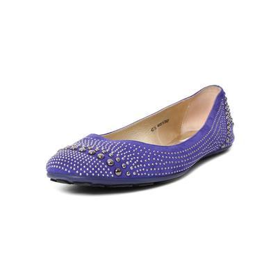 Jimmy Choo Size 40.5 Purple Studded Flats