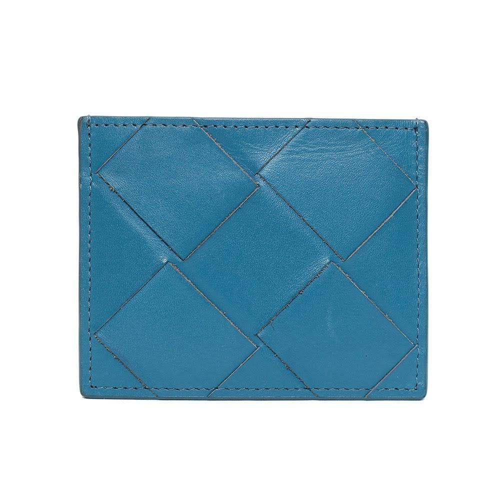Bottega Veneta Blue Woven Card Case