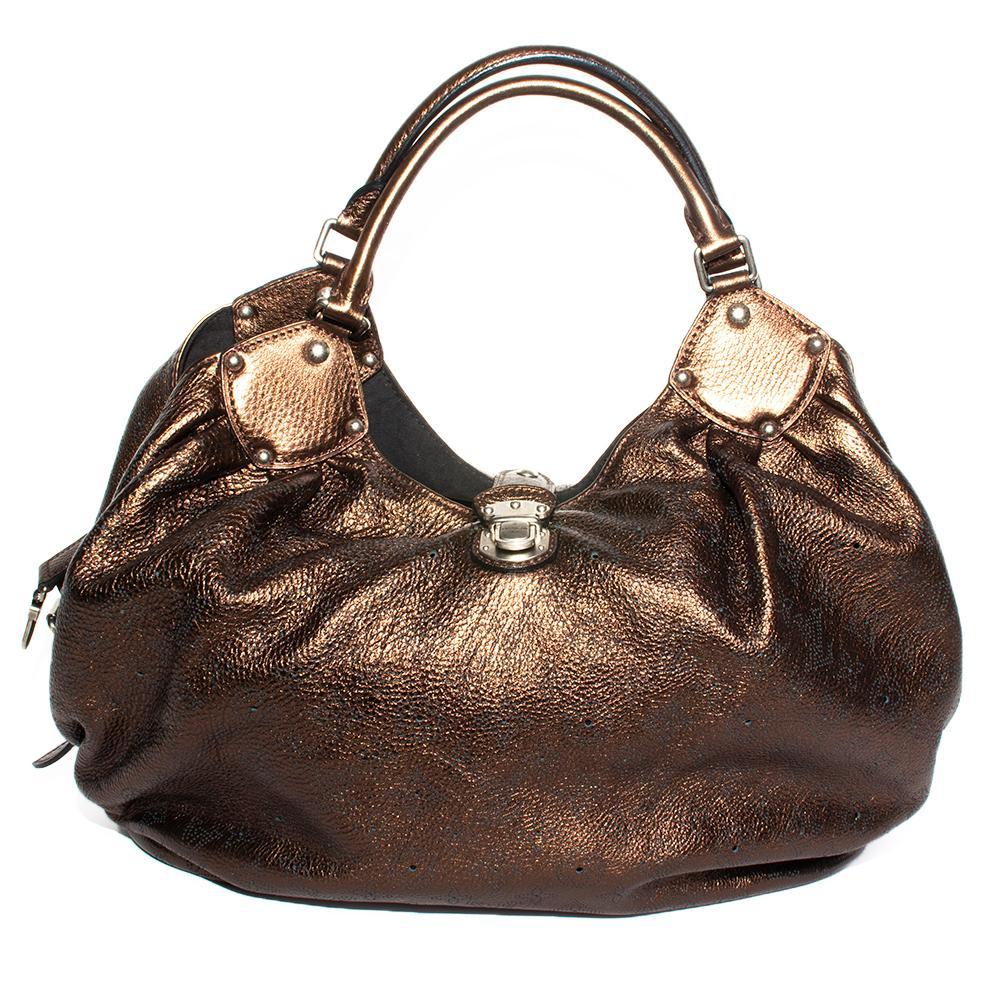 Louis Vuitton Metallic Bronze Mahina Monogram Handbag