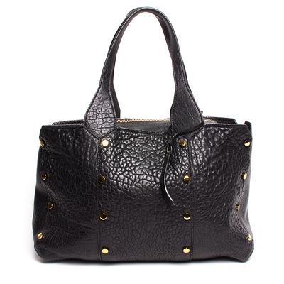 Jimmy Choo Black Leather Lockett Tote Bag