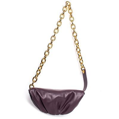 Bottega Veneta Purple Leather Pouch Shoulder Bag
