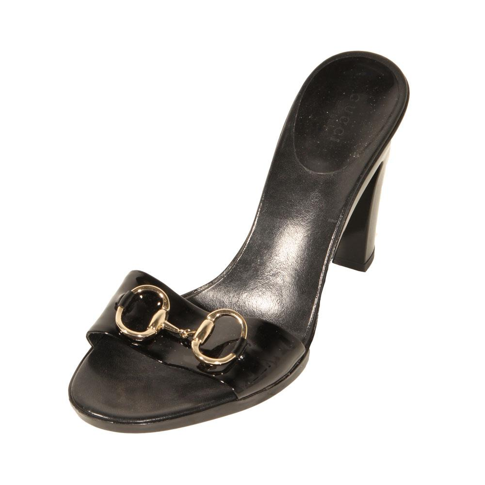 Gucci Size 9 Horsebit Open Toe Heels