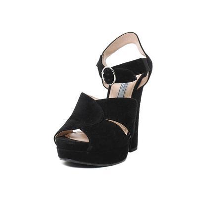 Prada Size 36 Suede Platforms