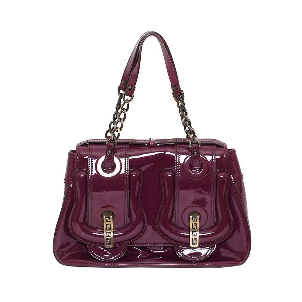 Fendi Patent Leather Purple Bag