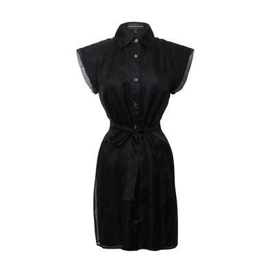 Christian Siriano Size 6 S Black Silk Dress