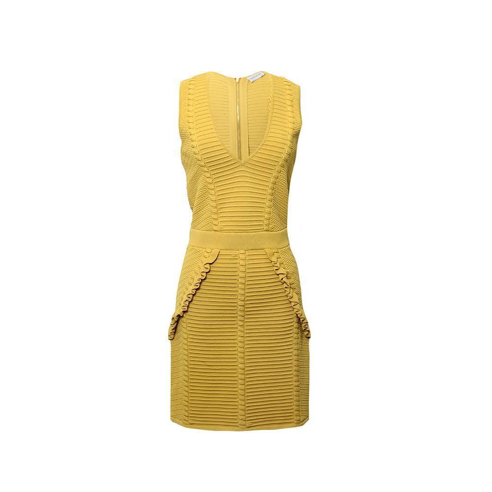 Rebecca Vallance Size 4 S Yellow Dress