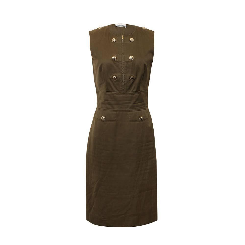 Yves Saint Laurent Size 10 Green Dress