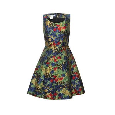 Oscar De La Renta Size 4 Brocade Dress