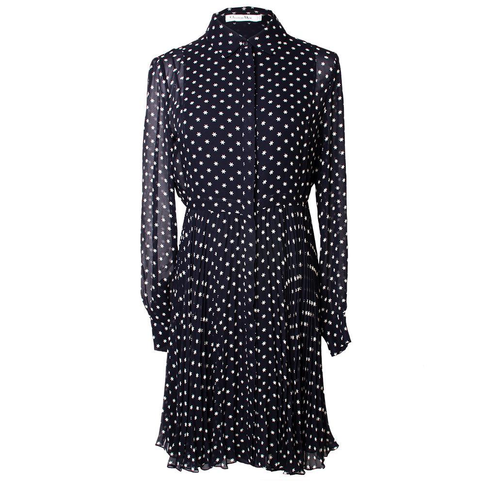 Christian Dior Size 46 Navy Fall 2018 Silk A Line Dress