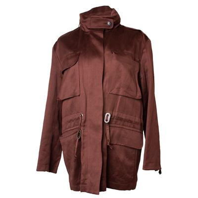 Hermes Size 40 Brown Vintage 90s Jacket