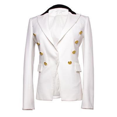 Veronica Beard Size 2 White Jack Riding Jacket