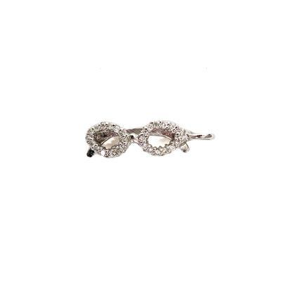Roberto Coin 18K White Gold Diamond Tiny Treasure Glasses Pendant